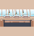 modern cafe empty no people restaurant counter vector image vector image