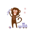 Monkey Playing With Toys vector image vector image