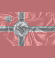 nazi world war two silk flag vector image vector image