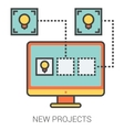 New projects line icons vector image vector image