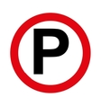 parking zone signal traffic circle vector image