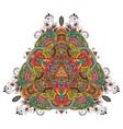 Peacock Mandala vector image vector image