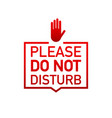 please do not disturb label on white background vector image