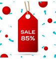 red pennant with an inscription big sale eighty vector image vector image