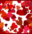 red seamless heart background pattern vector image vector image