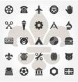 Retro Hand Drawn Logos Design Elements Logos vector image