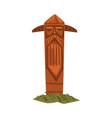 scandinavian totem pole scandinavian mythology vector image