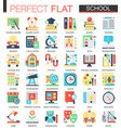 school edication complex flat icon concept vector image