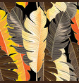 seamless autumn pattern tropical leaves