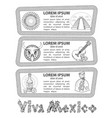 set of banners on a mexican theme labels for vector image