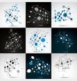 set of bauhaus retro wallpapers art backgrounds vector image vector image