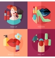 Set of flat design concept icons for make up vector image vector image