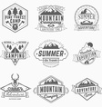 set of retro vintage summer camping badges vector image