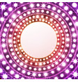 shine frame with bulb lamp and stars for your vector image vector image