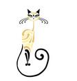 siamese cat design vector image vector image