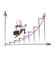 Simple Business People Exponential Growth Chart vector image vector image