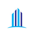 skyscrapers building contruction logo vector image vector image