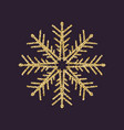 snowflake icon christmas and new year xmas vector image