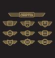 sport motorbike vintage wing labels vector image