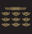 sport motorbike vintage wing labels vector image vector image