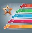 star winner business infographic vector image
