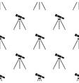 Telescope icon black Single education icon from vector image