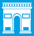 triumphal arch icon white vector image vector image