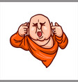 upset buddha covered his ears vector image vector image