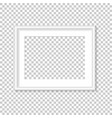 white photo frame template vector image vector image