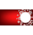 Winter round banner with snowflakes vector image vector image
