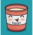 kawaii yogurt cute icon design vector image