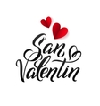 Valentines Day Spanish Black and Red Lettering vector image