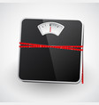 bathroom scale with a measuring tape vector image