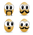 egg cartoon face vector image