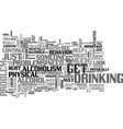 a serious look at alcoholism symptoms may be vector image vector image