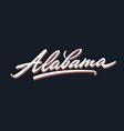 alabama brush lettering script vector image