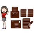 An office girl vector image vector image