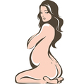 Beautiful pregnant woman vector image vector image