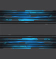 blue metallic circuit on grey design modern vector image vector image