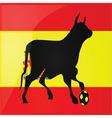 bull spanish soccer vector image