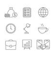 business outline icons vector image vector image