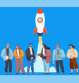 business partners successful team investors make vector image vector image