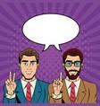 business team pop part cartoon vector image vector image