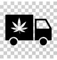 Cannabis delivery van icon