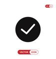 checked button icon vector image vector image