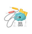 cloud connection and data center information vector image