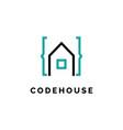 code house logo design vector image vector image