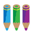 color pencils cold colors vector image vector image