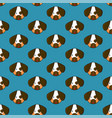 dog seamless on indigo blue background vector image vector image