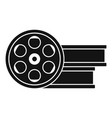 film metal roll icon simple style vector image